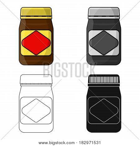 Australian food spread icon in cartoon design isolated on white background. Australia symbol stock vector illustration.