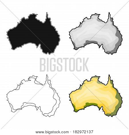 Territory of Australia icon in cartoon design isolated on white background. Australia symbol stock vector illustration.