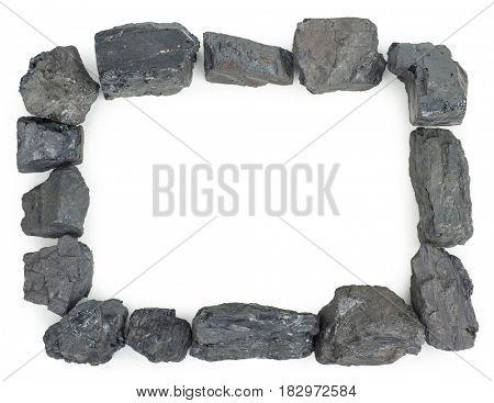 A frame of coal pieces