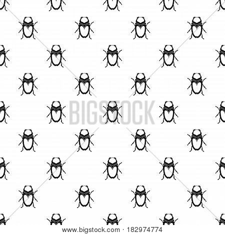 Scarab beetle pattern seamless in simple style vector illustration