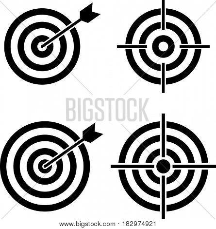 Target Icon  Raster Illustration