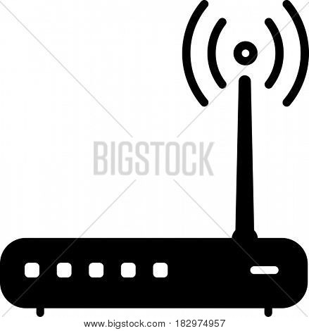WiFi Modem Icon  Raster Illustration
