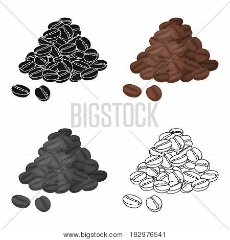 Brazilian coffee icon in cartoon design isolated on white background. Brazil country symbol stock vector illustration.