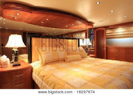 Master bedroom on vessel