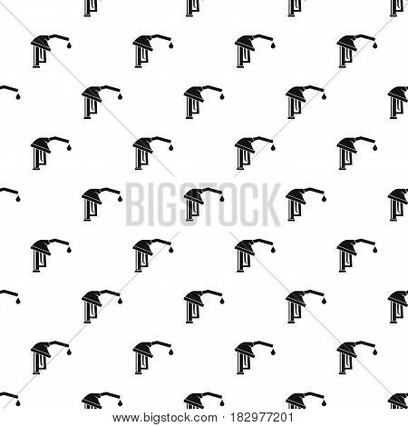 Gasoline pump nozzle pattern seamless in simple style vector illustration