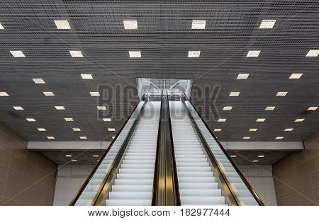Long Passenger Escalator