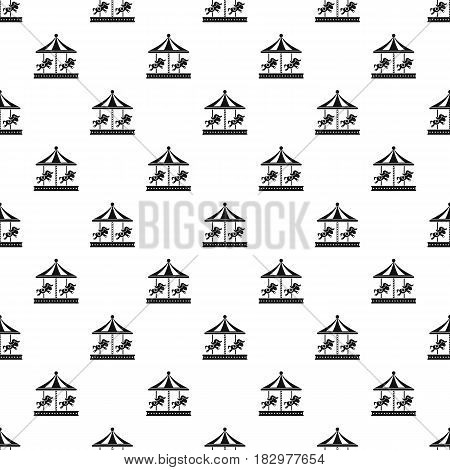 Merry go round horse ride pattern seamless in simple style vector illustration