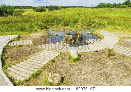 Wells for salt production was drilled in 1906. Today is a landmark of the city Solikamsk. Russia The Urals