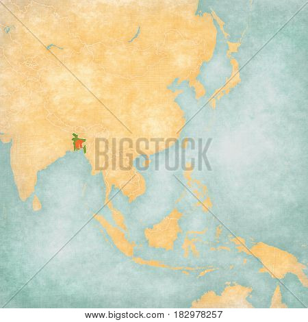 Map Of East Asia - Bangladesh