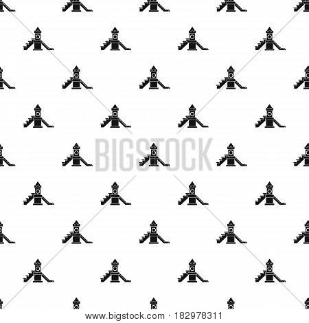 Slider, kids playground equipment pattern seamless in simple style vector illustration