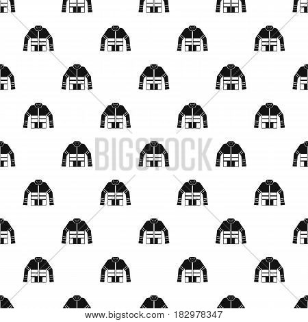 Firefighter jacket pattern seamless in simple style vector illustration