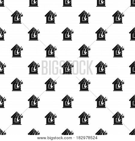 Preventing fire pattern seamless in simple style vector illustration