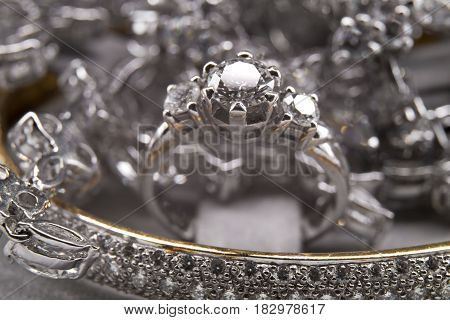 Presentation of Luxury Silver Diamond Jewelry Collection