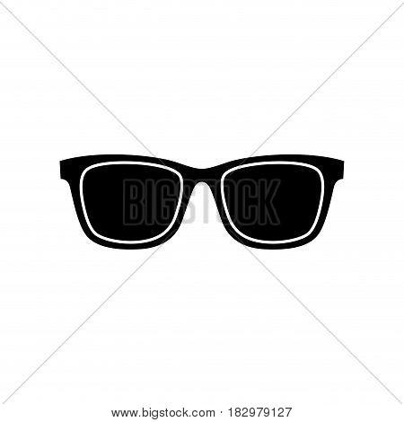 sunglasses icon over white background. vector illutration