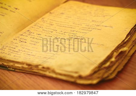 old paper sheet isolated . antique book page