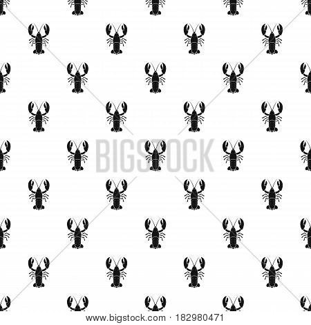 Crawfish pattern seamless in simple style vector illustration