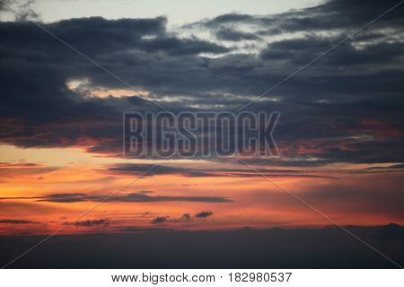 the twilight Dramatic red sunset abstract background