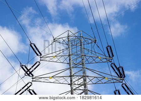 Electricity Line Against The Sky.