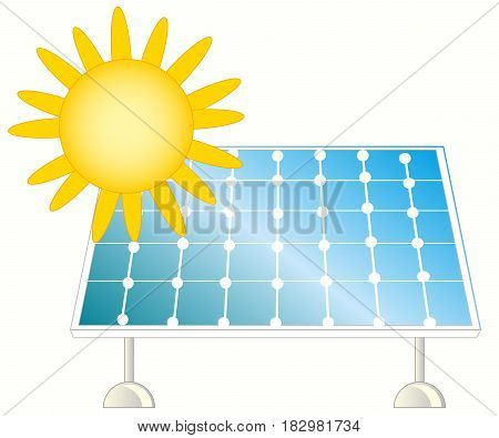 Solar panel for collection of the energy from sun