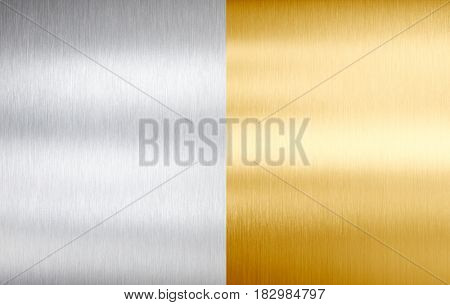 steel and gold stitched brushed metal textures or backgrounds