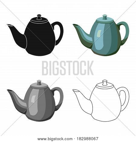 Teapot icon in cartoon style isolated on white background. England country symbol vector illustration.
