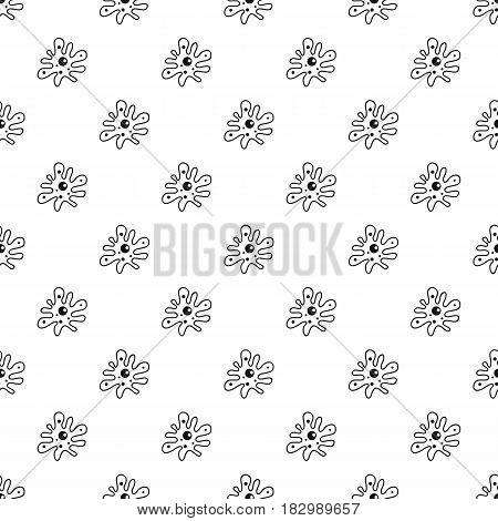 Amoeba pattern seamless in simple style vector illustration