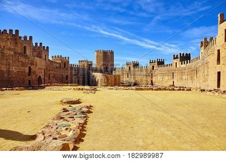 The Castle Of Burgalimar Or Burch Al-hamma Is An Ancient Umayyad Fortress Built In The Tenth Century