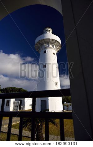 White Lighthouse In Hengchun Township, Pingtung County, Taiwan