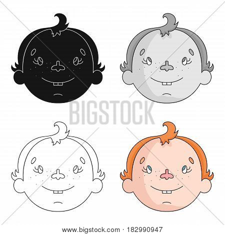 Son icon in cartoon design isolated on white background. Family holiday symbol stock vector illustration.