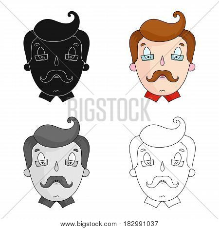 Father icon in cartoon design isolated on white background. Family holiday symbol stock vector illustration.