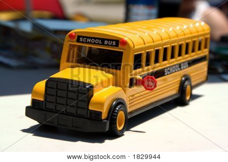 Toy Bus Front Focus