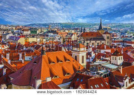 Prague, Czech Republic. Old town architecture houses