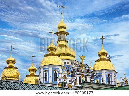 Kiev, Ukraine. Saint Michael's Golden-Domed Monastery building