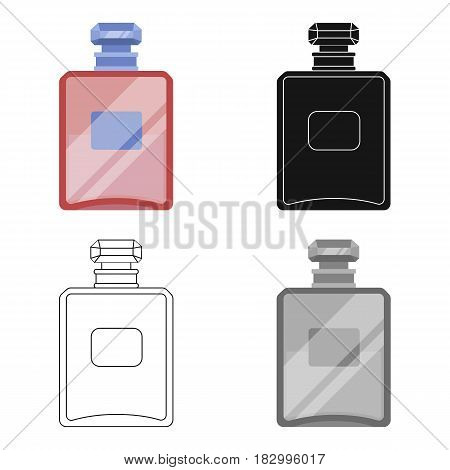 Bottle of french perfume icon in cartoon design isolated on white background. France country symbol stock vector illustration.