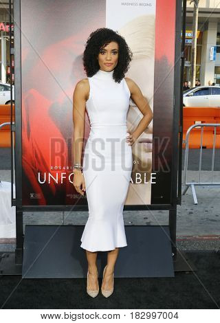 Annie Ilonzeh at the Los Angeles premiere of 'Unforgettable' held at the TCL Chinese Theatre in Hollywood, USA on April 18, 2017.