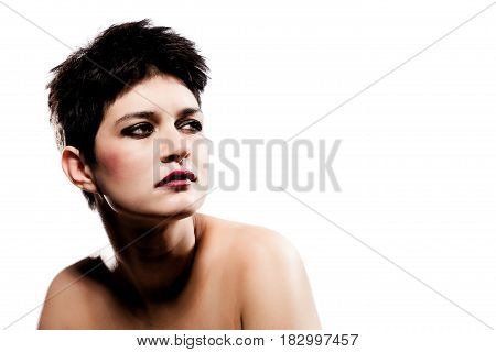 Portrait Of A Girl With Short Hair