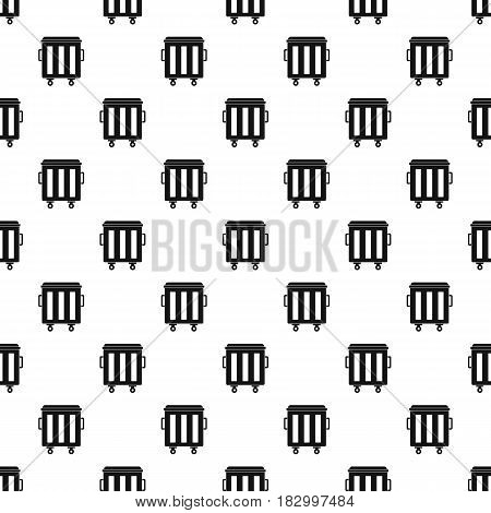 Metal trashcan pattern seamless in simple style vector illustration