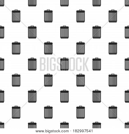 Trashcan pattern seamless in simple style vector illustration
