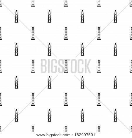 Obelisco of Buenos Aires, Argentina pattern seamless in simple style vector illustration