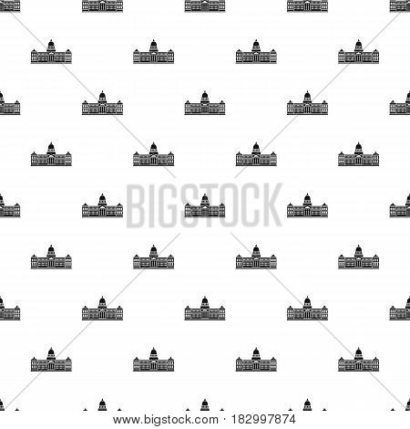 Palace of Congress in Buenos Aires, Argentina pattern seamless in simple style vector illustration