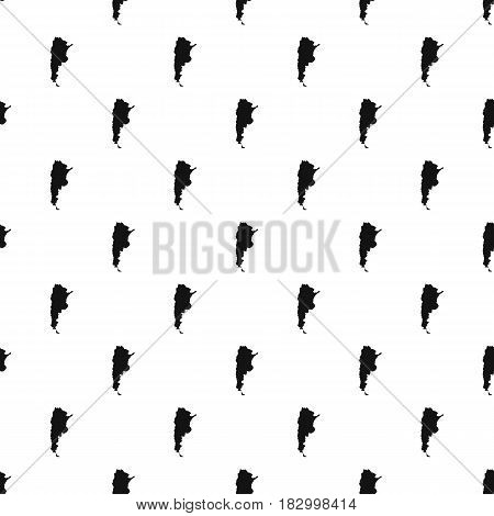 Map of Argentina pattern seamless in simple style vector illustration