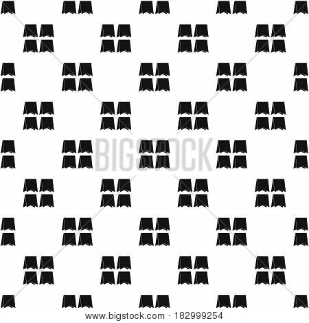 Pennants pattern seamless in simple style vector illustration