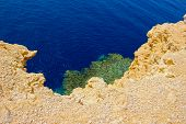 Bay with blue water in Ras Muhammad National Park in Sinai Egypt poster