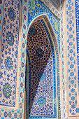 Detail of Ulugh Beg Madrasa Samarkand Registan Uzbekistan poster