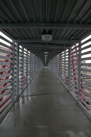 Interior Freight House Pedestrian Bridge