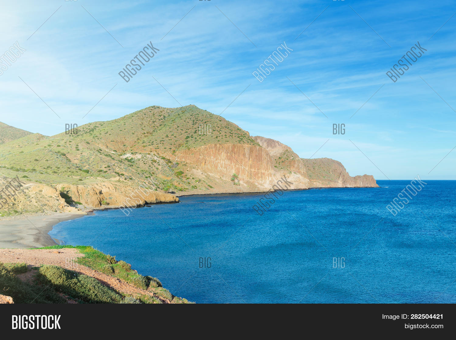 Genoveses Beach Spain Image Photo Free Trial Bigstock