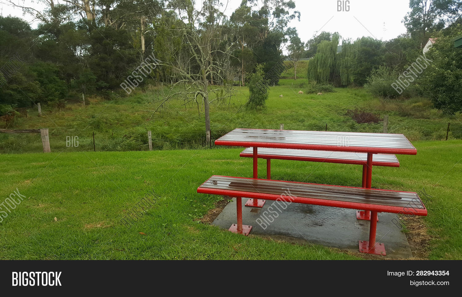 Fine Table Bench Seat Red Image Photo Free Trial Bigstock Gmtry Best Dining Table And Chair Ideas Images Gmtryco