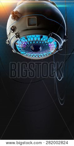 Stylized Robotic Eye 3d Render. Image Recognition Machine Vision Neural Network Deep Learning Concep