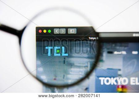 Los Angeles, California, Usa - 25 January 2019: Tokyo Electron Website Homepage. Tokyo Electron Logo