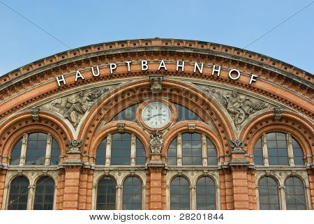 Bremen Central Station Facade
